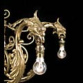Eagles Chandelier Antique Gilt Brass Glass | Westland London