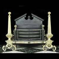 Neoclassical Victorian Brass Iron Fire Grate | Westland London