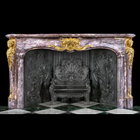 Louis XV Large Marble Antique Fireplace Mantel | Westland London