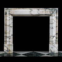 Pavonazzo White Marble Bolection Fireplace | Westland London