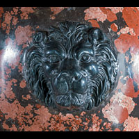 Pair Urns Scagliola Lion Black Marble | Westland London