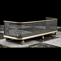 Steel Regency Brass Antique Fireplace Fender | Westland London