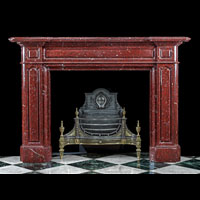 Red Marble Victorian Fireplace Mantel | Westland London