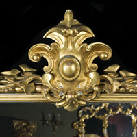 Victorian Gilt Wood Antique Overmantel Mirror | Westland London