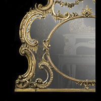 Rococo Chippendale Gilt Wood Antique Mirror | Westland London