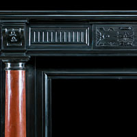 Black And Red Marble Antique Fireplace Mantel | Westland London
