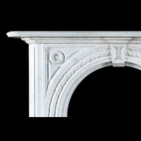 Victorian Arched Carrara Marble Keystone | Westland London