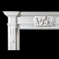 Georgian White Marble Antique Fireplace Mantel | Westland London