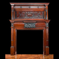 Mahogany Baroque Fireplace Overmantel | Westland London