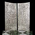 Georgian Silver Copper Pair Fireplace Panels | Westland London