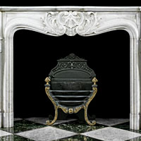 Rococo White Marble Antique Fireplace Mantel | Westland London