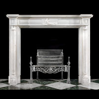 Regency Columns White Marble Antique Fireplace | Westland London