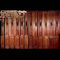 Antique carved oak French panelling.