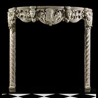 Venetian Gothic Marble Fireplace Mantel | Westland Antiques