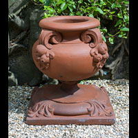 Four Antique Terracotta Small Garden Urns | Westland London