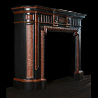 Black And Red Marble Belgian Fireplace | Westland Antiques