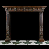 French Renaissance Oak Wood Fireplace | Westland Antiques