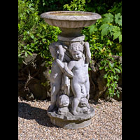 Dolphin Putti Antique Marble Italian Fountain | Westland London