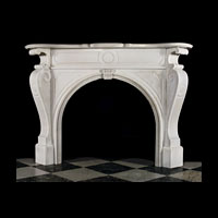 Arched White Marble Victorian Fireplace | Westland London