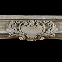 Antique Stone Baroque Fireplace Mantel | Westland Antiques