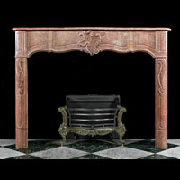 Louis XIV Rose Marble Rococo Fireplace | Westland Antiques