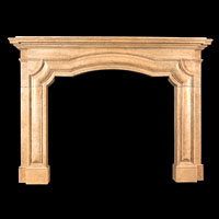 Nembro Marble Baroque Fireplace Mantel | Westland Antiques