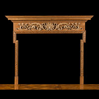English Rococo Pine Wood Antique Fireplace | Westland London
