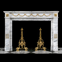 Statuary Marble French Antique Fireplace | Westland London