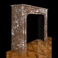 French Rouge Royale Marble Antique Fireplace | Westland London