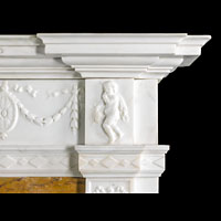 Neo Classical Statuary Marble Fireplace | Westland London