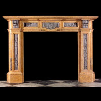 Baroque Style Crema Valencia Marble Fireplace | Westland London