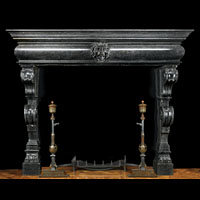 Baroque Mannerist Black Marble Fireplace | Westland Antiques