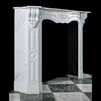 Rococo White Marble Antique Fireplace | Westland London