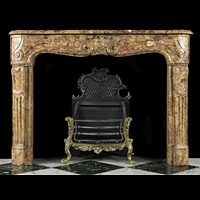 Yellow Marble French Rococo Fireplace | Westland Antiques