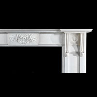 Large Regency Revival Antique Marble Fireplace | Westland London