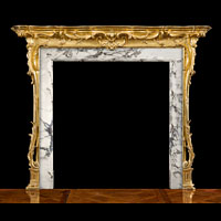 Giltwood Rococo Ornate Antique Fireplace | Westland London