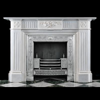 White Marble English Regency Antique Fireplace | Westland London