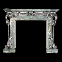 English Rococo Cast Iron and Marble Fireplace | Westland London