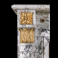 Marble Ormolu Louis XVI Fireplace Mantel | Westland London