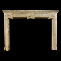 Italian Baroque Antique Marble Fireplace | Westland Antiques
