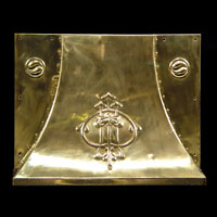 Arts And Crafts Antique Brass Fireplace Hood | Westland London