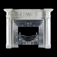 Early Georgian White Statuary Marble Fireplace | Westland London