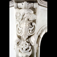 English Rococo Antique Marble Fireplace | Westland London
