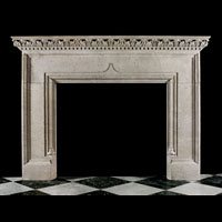 English Baroque Stone Fireplace Mantel | Westland Antiques