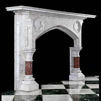 Gothic Revival White Marble Antique Fireplace | Westland London