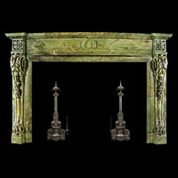 Irish Neoclassical Green Marble Fireplace | Westland London