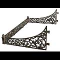 Antique Victorian Cast Iron Porch Conservatory Canopy