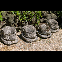 Four Antique Stone Garden Bowls Pots| Westland London