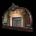 Large Wide Antique Mahogany Mirror | Westland London