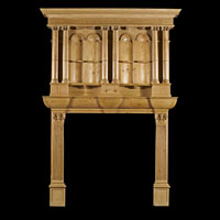 Gothic Revival Pine Wood Fireplace | Westland Antiques